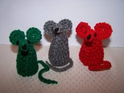 Crochet Christmas Mice