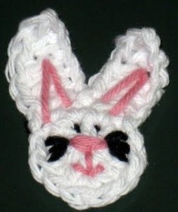 Free Crochet Pattern Bunny Face Applique