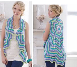 Pastel Colored Rippling Vest Allfreecrochetcom