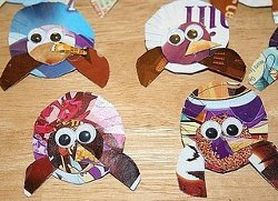 Cereal Box Turkey Pins
