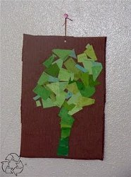 Paint Chip Tree Mosaic