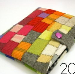 Scrappy Felt iPad Cover