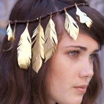 Gilded Feather Headband
