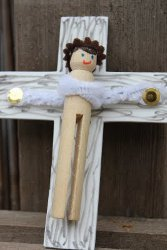 Jesus Clothespin Doll