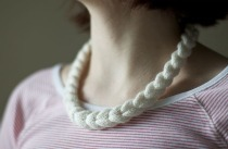 Knit Cable Braided Necklace