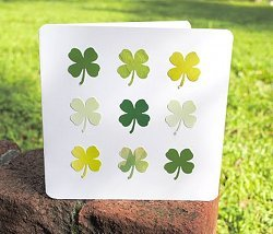 Simple Four Leaf Clover Card
