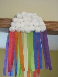 Easy Rainbow Cloud Decoration