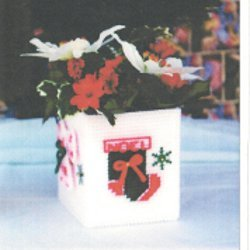 Christmas Ornaments and Snowflakes Flower Box