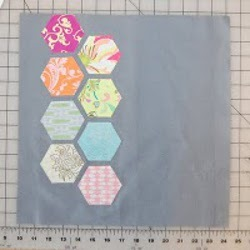 Modern Hexagon Quilted Pillow Part 1
