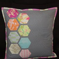 Modern Hexagon Quilted Pillow Part 3