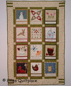 Embroidered Country Calendar Quilt