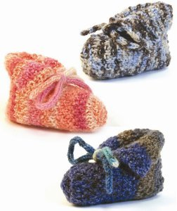 Simply Adorable Sock Yarn Baby Booties