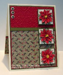 Pretty Poinsettia Stamped Card