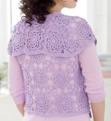Turtleback Jacket Free Pattern Crochet : Lovely Lace Vest AllFreeCrochet.com
