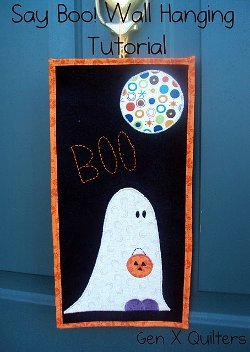 Ghost Applique Wall Hanging Favequilts Com