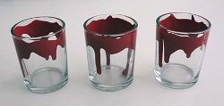 Faux Bloody Votives