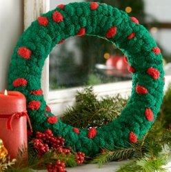 Cute Christmas Wreath Project Allfreeknitting Com