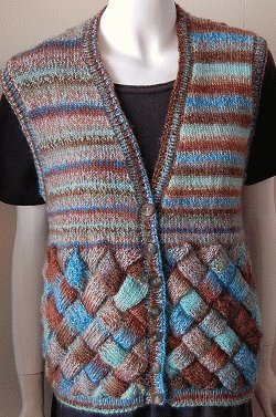 Sweet and Sassy Entrelac Vest