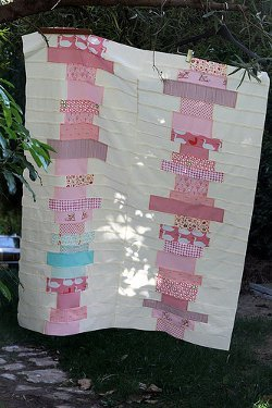 Pink Stacks Coin Quilt