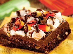 Halloween Rocky Road Brownies