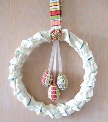Wreath with Dangling Eggs