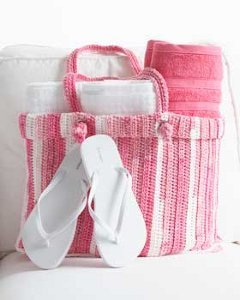 Cotton Stripes Tote Bag