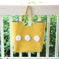 Large Tote with Rounded Opening