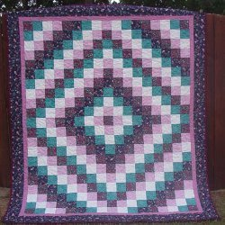 Trip Around the World Bed Quilt