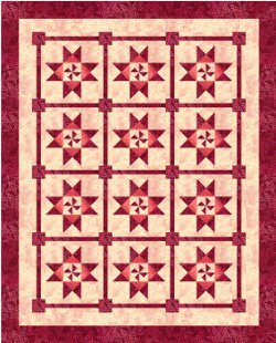 Catch A Spinning Star Bed Quilt