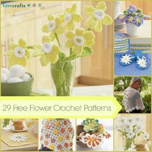 29 Free Flower Crochet Patterns and Other Girly Crochet Projects