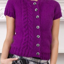 Knit Picky Patterns From Allfreeknitting : Topside Knit Cardi FaveCrafts.com