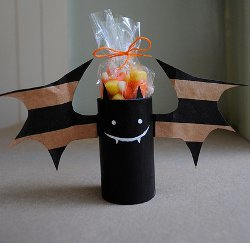 Playful Bats from Paper Bags
