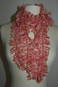Flamingo Hairpin Lace Crochet Scarf