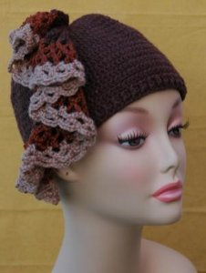 Crochet Hat with Ruffle