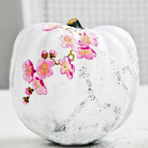 Artistic Decoupaged Pumpkins