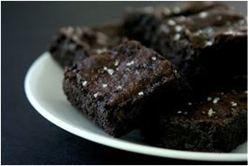 Dark Chocolate Brownies with Sea Salt