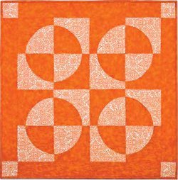 Shades of Orange Drunkard's Path Wall Quilt