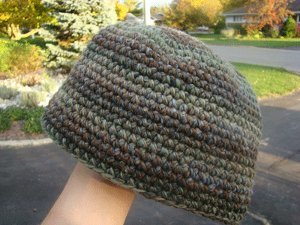 520c9a61860 Follow these easy crochet instructions to make a Men s Beanie Hat. Two  strands of Bernat Mosaic is used simultaneously to increase the thickness  of the hat.