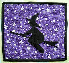 Paper Pieced Witch Quilt Block