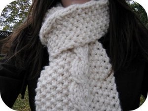 Super Bulky Two Ball Scarf Allfreeknitting Com