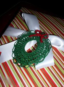 Crocheted Thread Wreath