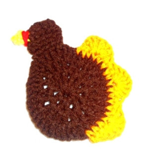 Crochet Turkey Coaster