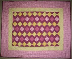 Diamond Stripes Baby Quilt