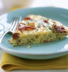 Danish Potato, Tomato, and Bacon Omelette