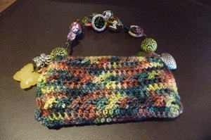 Blackberry or iPhone Crochet Purse