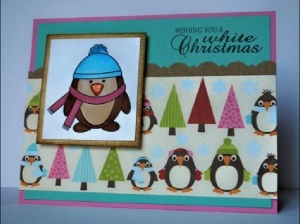 Copic Penguins Christmas Card
