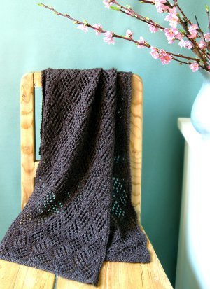Checkerboard Lace Scarf