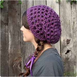 Make yourself a modern Waffle Cone Slouchy Hat with this free crochet hat  pattern and Lion Brand yarn. It only takes one ball of yarn to make this  cute ... 6afe8fbb892
