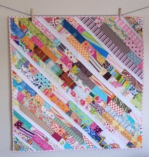 Scatter Sunshine Scrappy Baby Quilt