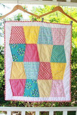 Tumbling Blocks Baby Quilt Pattern.Tumbling Blocks Baby Quilt Favequilts Com